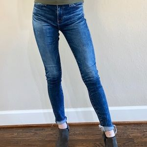Ag distressed blue jeans with frau